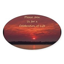 Celebration of Life Invitations Decal