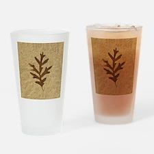 featherLobeOak Drinking Glass