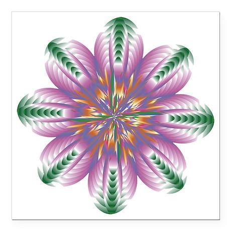 """FLOWERS-1 copy Square Car Magnet 3"""" x 3"""""""