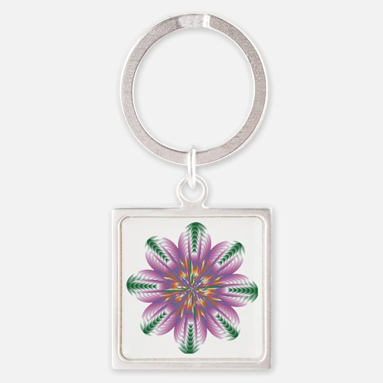 FLOWERS-1 copy Square Keychain