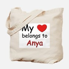 My heart belongs to anya Tote Bag