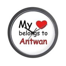 My heart belongs to antwan Wall Clock