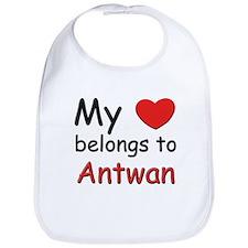 My heart belongs to antwan Bib
