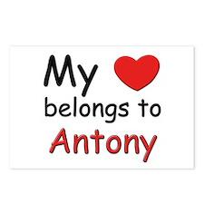 My heart belongs to antony Postcards (Package of 8