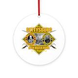 Gettysburg Round Ornaments