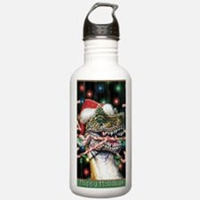 Happy Holidays Dinosau Water Bottle