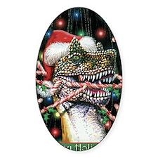 Happy Holidays Dinosaur Decal