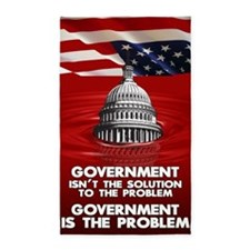 23x35 GOVERNEMNT IS THE PROBLEM 02 3'x5' Area Rug