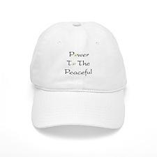 Power To The Peaceful Baseball Baseball Cap