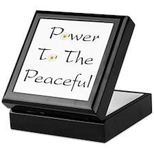Power To The Peaceful Keepsake Box
