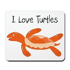 turk_turtle_orange Mousepad