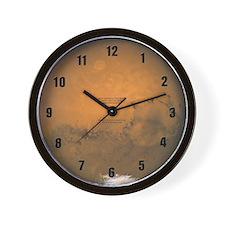 Planet Mars Wall Clock