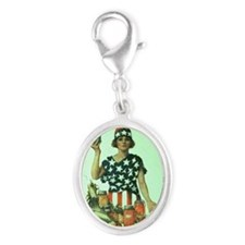 WWIIvictoryCanner Silver Oval Charm