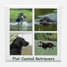 Flat Coated Retriever Tile Coaster