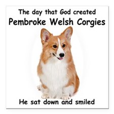 "God-Pembroke Dark Shirt Square Car Magnet 3"" x 3"""