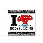 I Love Bodybuilding Postcards (Package of 8)