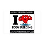 I Love Bodybuilding Wall Decal