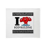 I Love Bodybuilding Throw Blanket