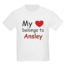 My heart belongs to ansley Kids T-Shirt