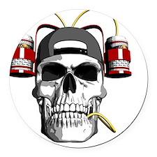 beerhelmet Round Car Magnet