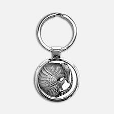 2-armadillo Round Keychain