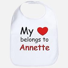 My heart belongs to annette Bib
