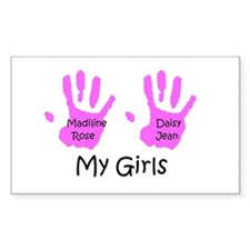 Alicia's Girls Rectangle Decal
