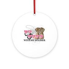 In love Soldier Round Ornament