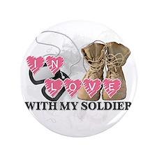 """In love Soldier 3.5"""" Button"""