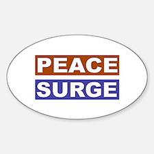Peace Surge Oval Decal