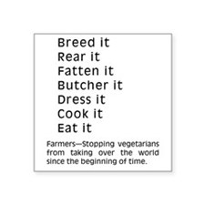 "2-Breed It Square Sticker 3"" x 3"""