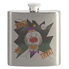 SheepdogHalloweenShirt2 Flask