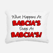 What Happens At Babcias Rectangular Canvas Pillow