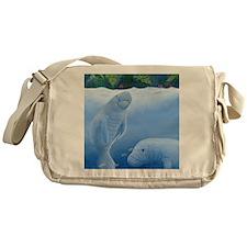 MANATEES scuare Messenger Bag