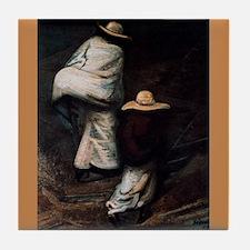 Siqueiros Mexican Revolution Tile Caminantes