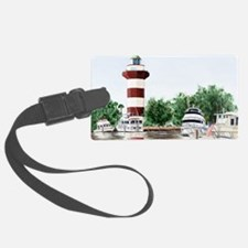 harbor town light long Luggage Tag