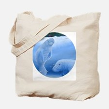 MANATEES circle Tote Bag