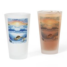 turtles world copy Drinking Glass