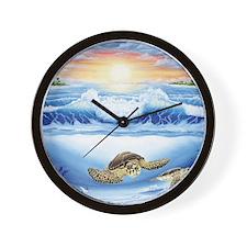 turtles world copy Wall Clock