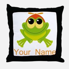 Personalized Frog Lover Throw Pillow