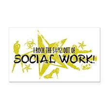SOCIAL WORK Rectangle Car Magnet