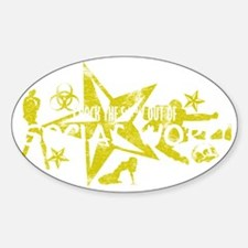 SOCIAL WORK WHT Sticker (Oval)