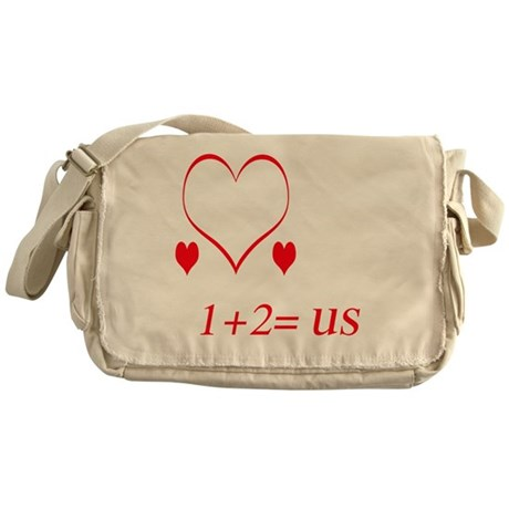 heartoneplustwousetrans Messenger Bag