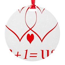 hearttwoplusoneuse Ornament