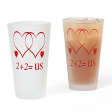 hearttwoplustwouse Drinking Glass