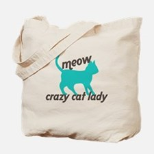 Meow Cat Lady Tote Bag