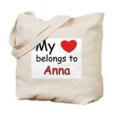 My heart belongs to anna Tote Bag
