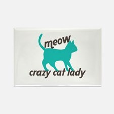 Meow Cat Lady Magnets