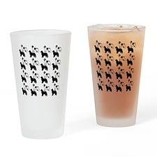 newf_pattern2 Drinking Glass