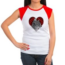 Abyssinian Cat Heart Women's Cap Sleeve T-Shirt